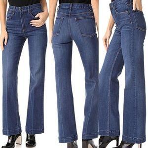 Rag & Bone Justine Highwater Wide Leg Flare Jeans